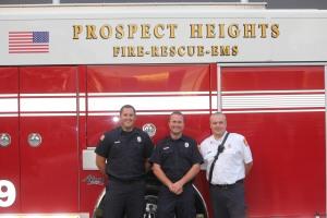 Matthew Gray, Kevin Hedman and Lt. Andrew Plonski