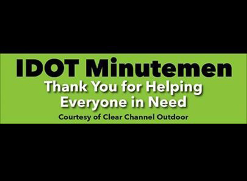 Billboard Executive Thanks IDOT Minutemen for Their Service