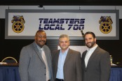 Local 700 Political Director Harold Irving with 41st Ward Democratic Committeeman candidate Andrew DeVito and 41st Ward Alderman Anthony Napolitano.