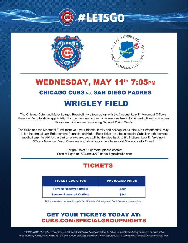 Chicago Cubs Law Enforcement Night (1)