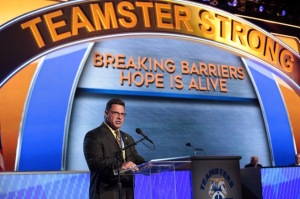 Teamsters Local 24 President Travis Bornstein shares his son's story of addiction during the Convention
